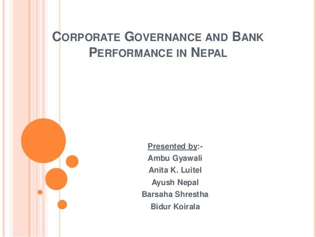 corporate governance in nepal