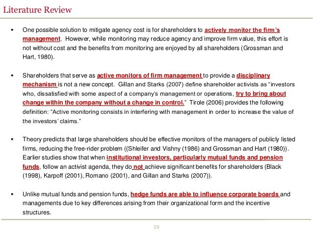 Corporate governance and hedge fund activism
