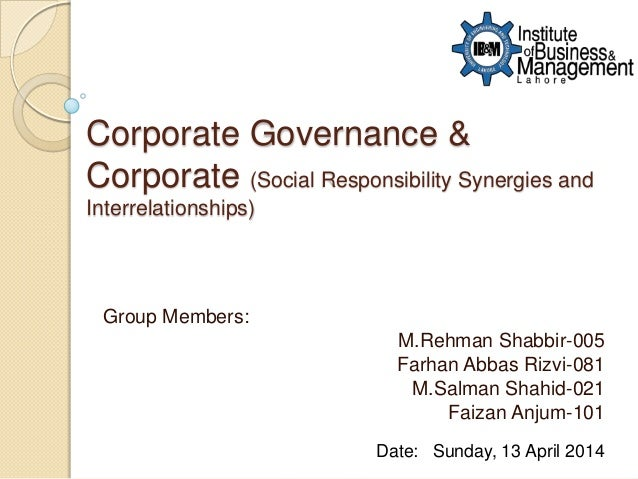 relationship between corporate governance social responsibility