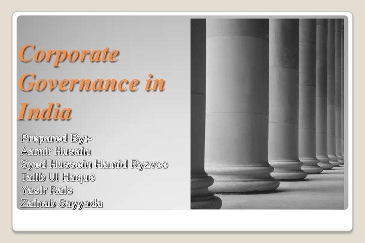 CorporateGovernance inIndia
