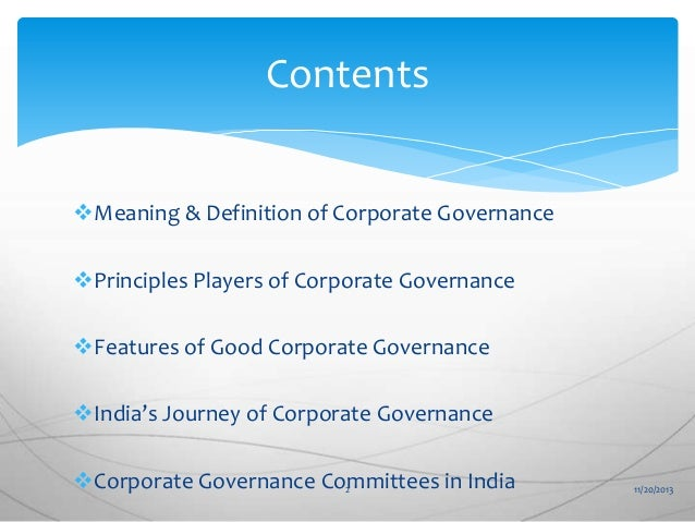 what is good governance in india