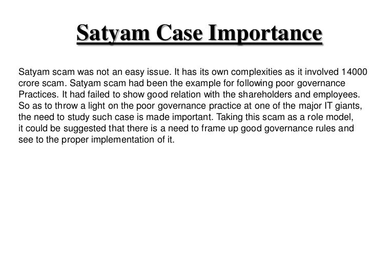 satyam fraud case The move by market regulator is a fallout of the co's alleged role in the satyam case, the country's biggest corporate accounting scandal.