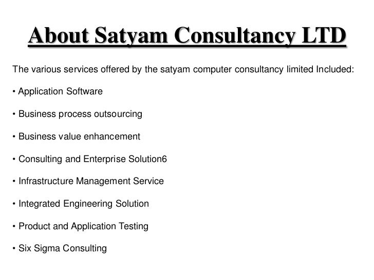 Corporate governance issues of satyam computer services