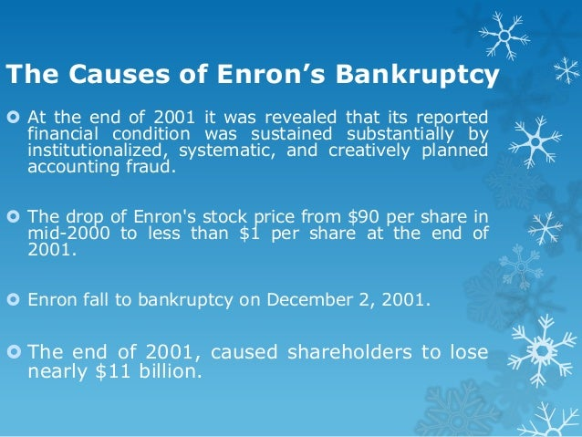 external causes for enron to collapse essay Which parts of the corporate governance system, internal and external, do you   this essay will examine the collapse of enron and detail the main causes.