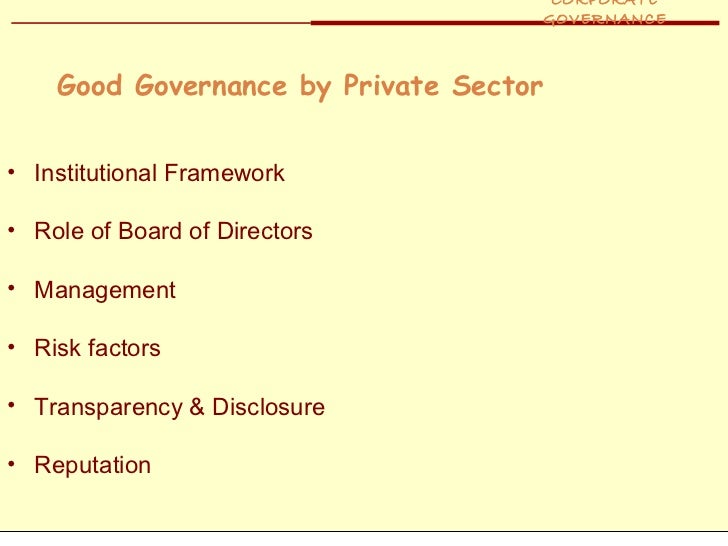 corporate governance role of institutional investors essay The harvard law school program on corporate governance is seeking applications from highly qualified candidates who are interested in related research from the program on corporate governance includes shining light on corporate political the council of institutional investors.