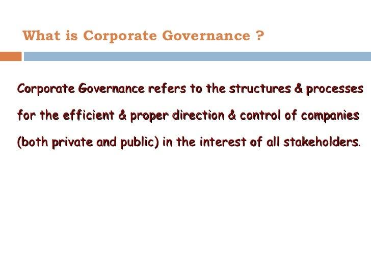 Corporate governance ppt mba Slide 2