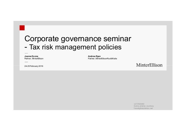 Guidance on corporate tax governance Background. Guidance on tax control frameworks (TCFs) was released by the OECD's Forum on Tax Administration (FTA) in It followed two earlier OECD publications (Principles of Corporate Governance and Guidelines for Multinational Enterprises), and seeks to assist businesses in designing and implementing effective tax governance.