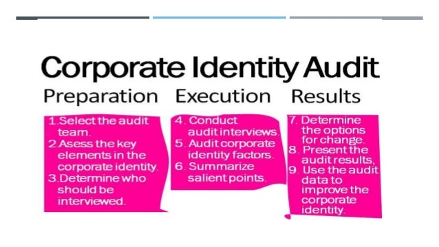  And in the last three steps the audit team has to explore the differences between how the company is perceived and how i...