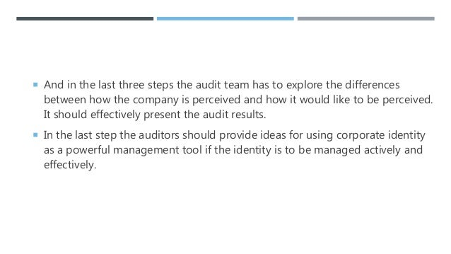 Corporate Identity and Corporate Identity Audit: Concept And Steps