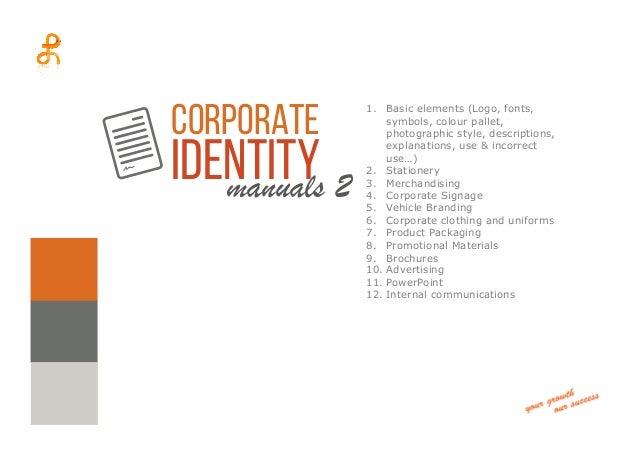 corporate identity manuals rh slideshare net Corporate Brochure Corporate Brochure