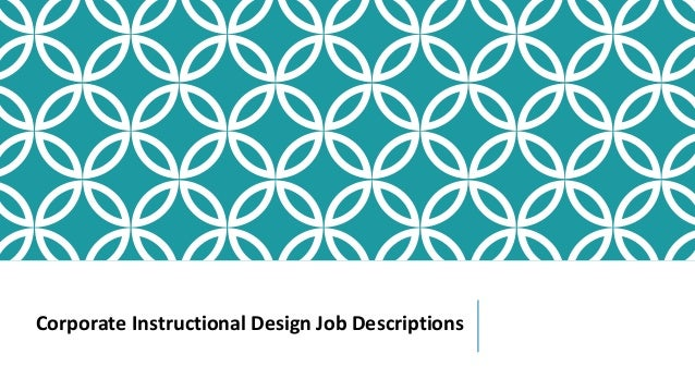 Corporate Instructional Design May2015