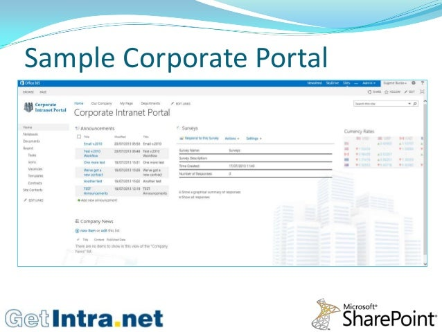 company intranet template - corporate intranet portal