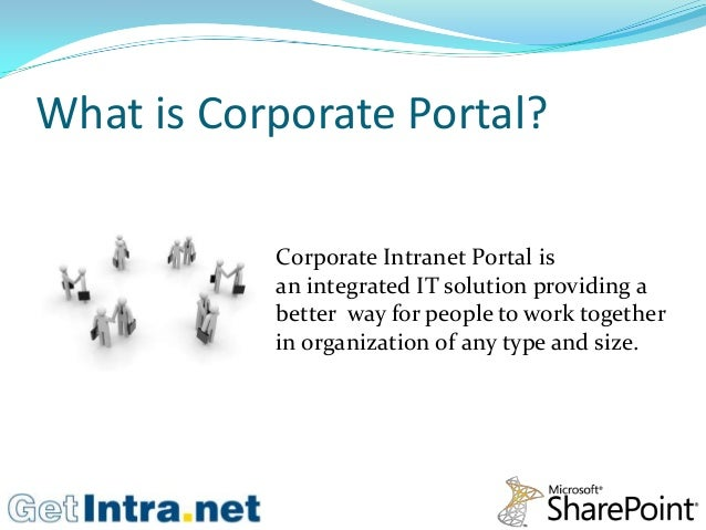 Corporate intranet portal