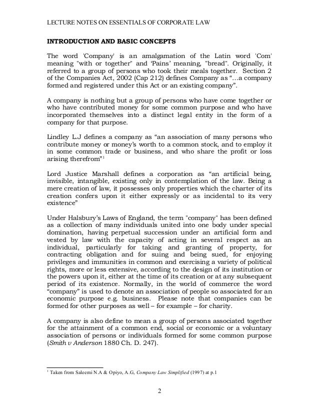 Corporate law manual mzumbe university