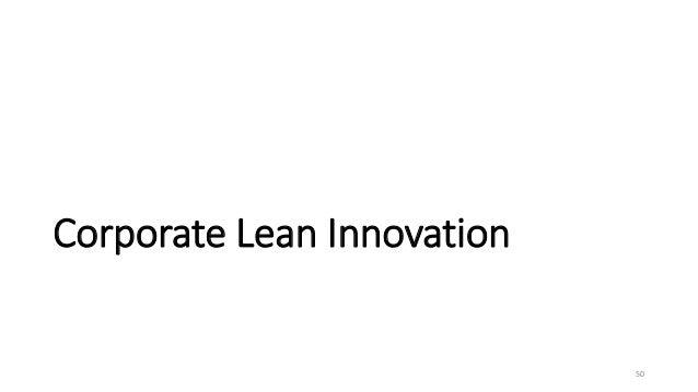 Corporate Lean Innovation 50