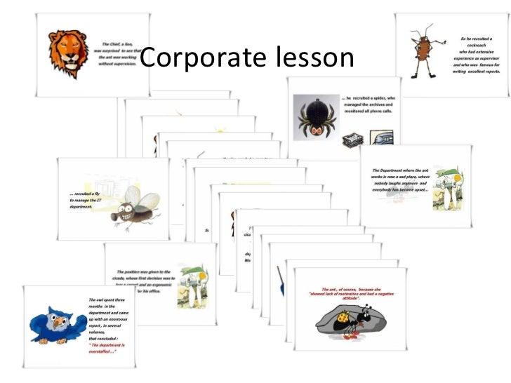 Corporate lesson