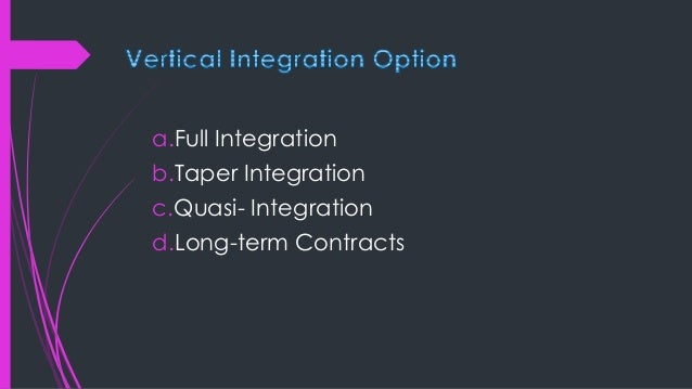 Horizontal integration - is a strategy where a company acquires, mergers or takes over another company in the same industr...