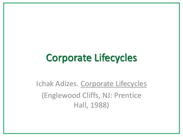 Corporate Lifecycles Ichak Adizes. Corporate Lifecycles (Englewood Cliffs, NJ: Prentice Hall, 1988)