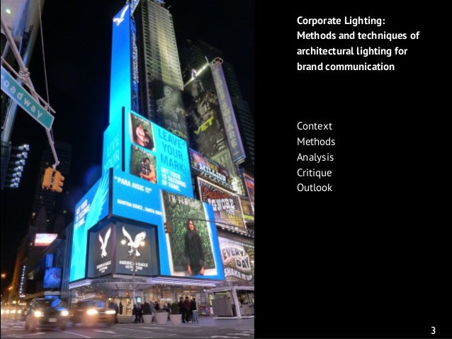 Corporate Lighting: Architectural lighting for brand communication Slide 3