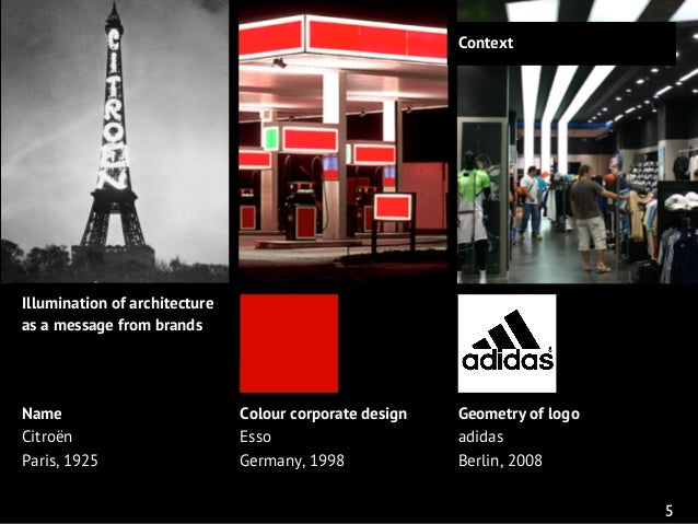 Corporate lighting architectural lighting for brand communication