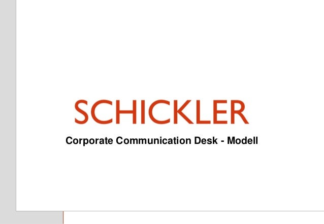 Titel Untertitel Hamburg, April 2013 Corporate Communication Desk - Modell