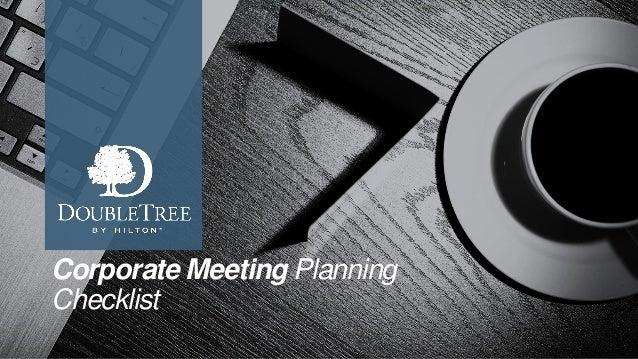 Corporate Meeting Planning Checklist