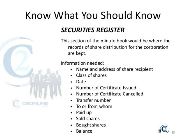 Corporate Minutes & Annual Registration Ppt