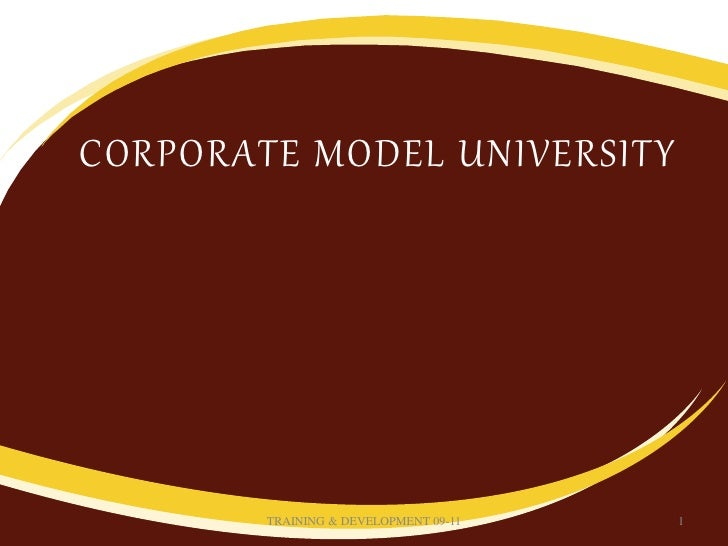 Corporate university model essay
