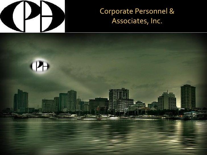Corporate Personnel &    Associates, Inc.