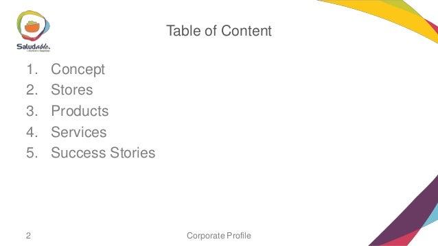 Saludable profile Slide 2