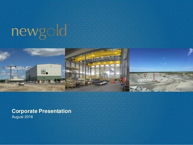 Corporate Presentation August 2016