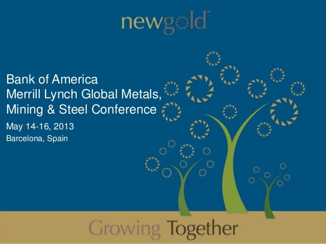 Bank of AmericaMerrill Lynch Global Metals,Mining & Steel ConferenceMay 14-16, 2013Barcelona, Spain