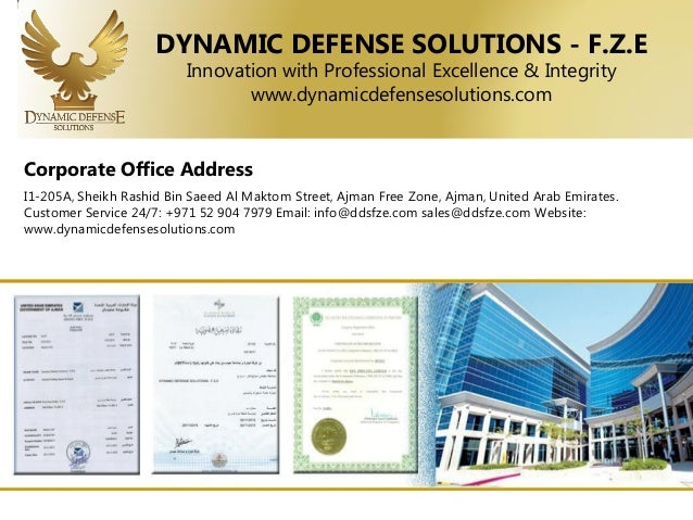 Dynamic Defense Solutions presentation F Z E UAE