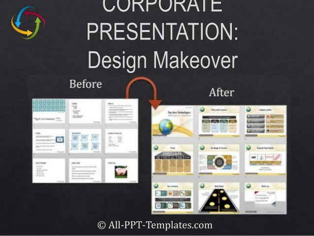 powerpoint corporate presentation design makeover example