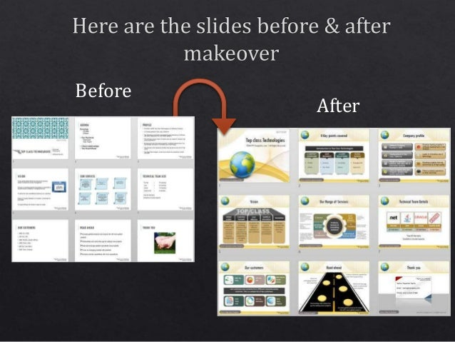 Powerpoint corporate presentation design makeover example before after 22 it is easy to make your presentations professional toneelgroepblik Choice Image