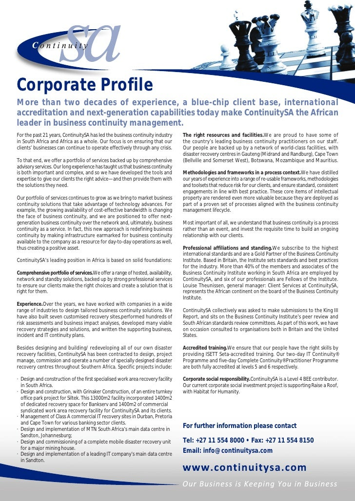 Corporate ProfileMore than two decades of experience, a blue-chip client base, internationalaccreditation and next-generat...