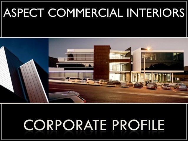 Aspect commerical interiors corporate profile 2014 for Aspect design