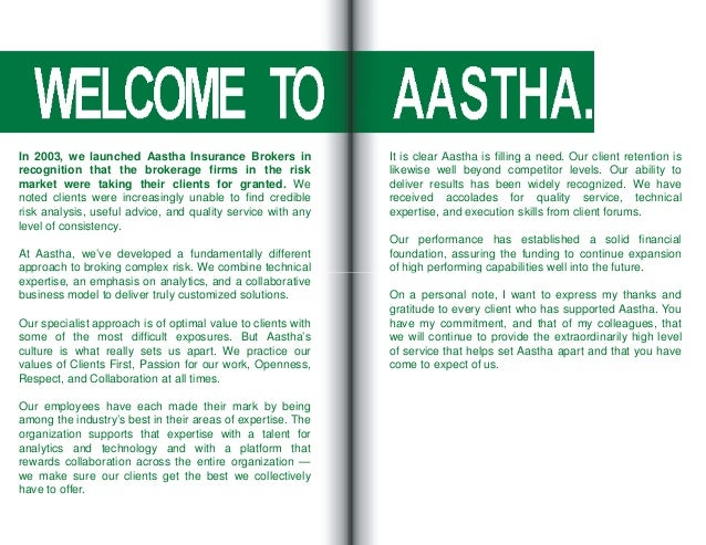 Corporate Profile - Aastha Insurance Brokers Pvt. Ltd.
