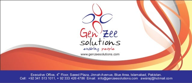 enabling people                                     www.genzeesolutions.com                       th       Executive Offic...