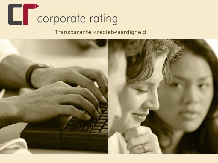 Transparante Kredietwaardigheid<br />