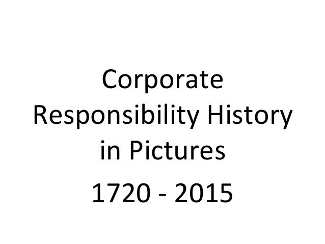 Corporate responsibility module lecture one introduction to cr