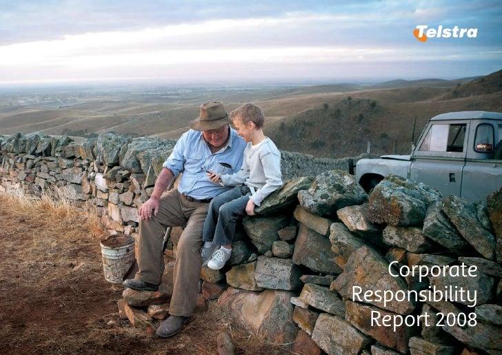Corporate     Responsibility b       Report 2008