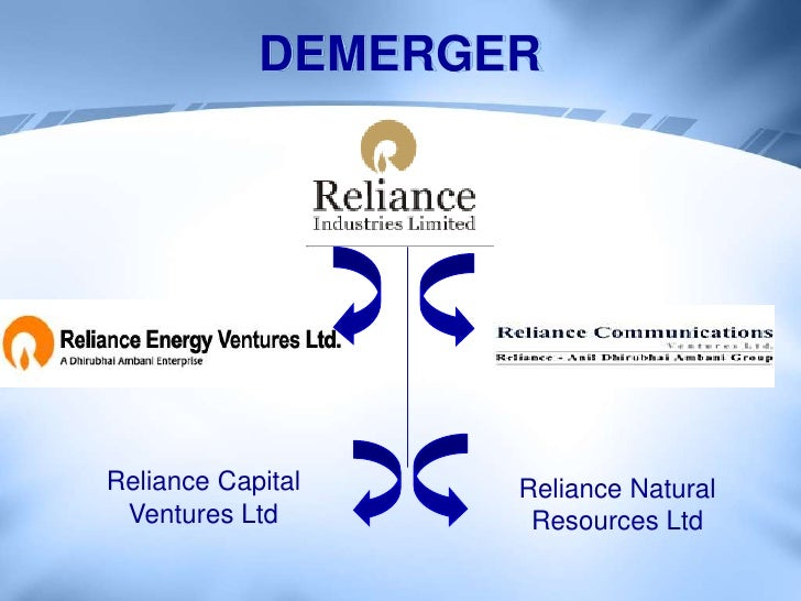 Reliance demerger case study