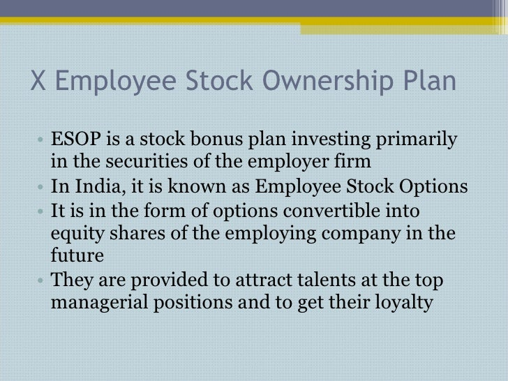Employee stock options merger