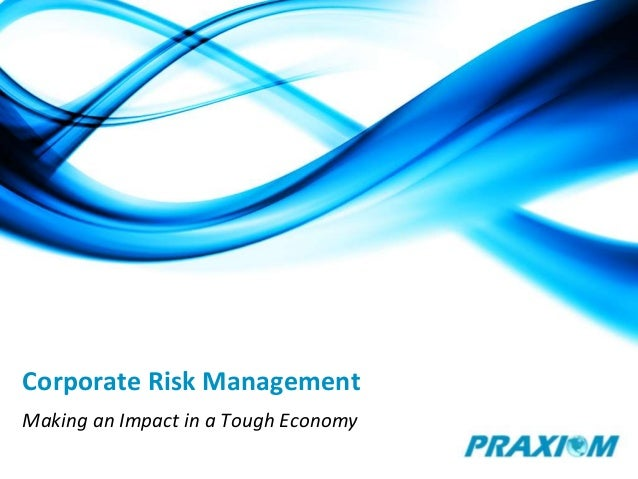 Corporate Risk Management Making an Impact in a Tough Economy