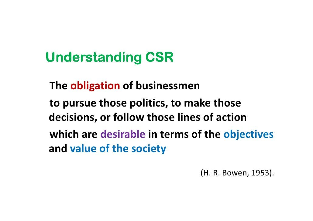 """""""CSR is a concept whereby companies integrate  social and environmental concerns  in their business operations and in thei..."""