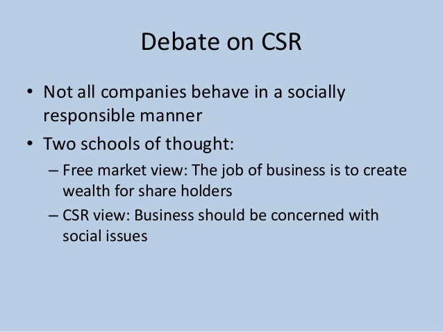 corporate social responsibility csr within two companies Corporate social responsibility (csr)  many social commentators also suggest that companies have a direct responsibility to future  responsibility corporate.