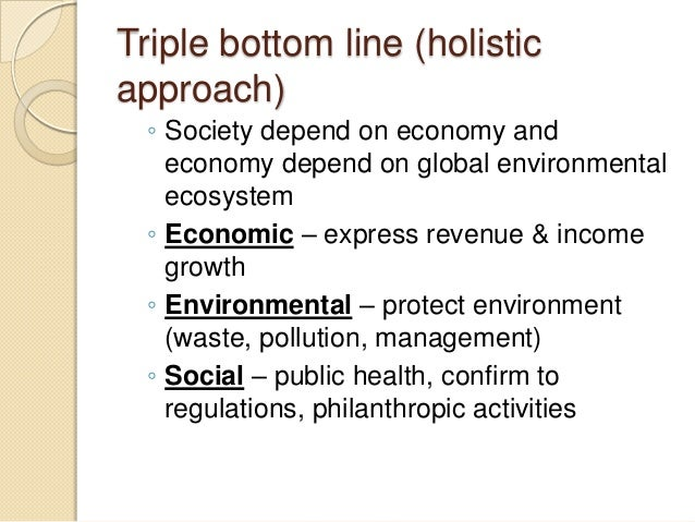triple bottom line approach Start studying bus 401- chapter 1 - mc learn vocabulary, terms, and more with  the triple bottom line approach to corporate accounting includes which three .
