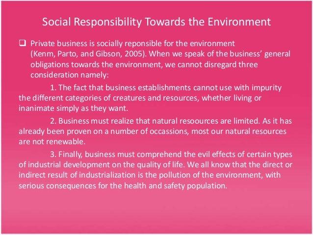 Corporate environment responsibility
