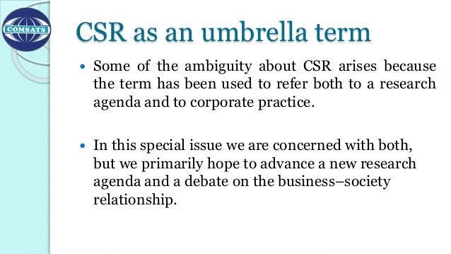 csr perspective The difference between csr perspectives (friedman vs carroll) seems to be  who you define as your public, and for me, if public extends.